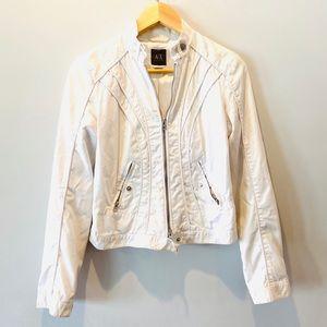 Armani Exchange White Cotton Jacket